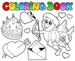 Coloring book Valentine theme 4