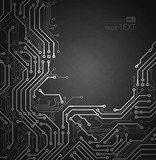 Black Abstract background of digital technologies