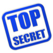 Stempel blau glas TOP SECRET