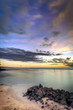 Crépuscule sur littoral réunionnais