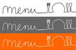 menu, speisekarte kopf