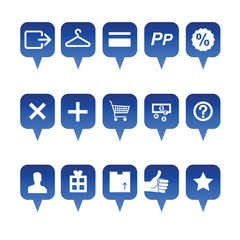 shopping online web icons