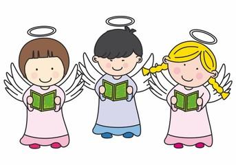 Niños haciendo la comunión