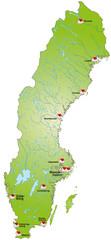 Schweden als Internetkarte