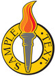 torch with flames emblem