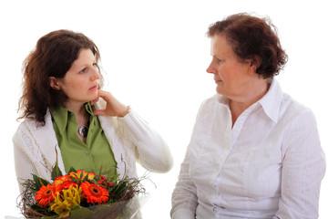 Blumen und Frauen