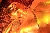 Reclining Buddha statue in Thailand Buddha Temple Wat Pho , Asia poster