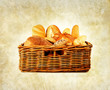 basket of baked bread