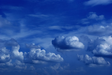 Dark-blue sky