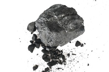 the piece of carbon and the crumbs