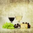 cheese and wine print