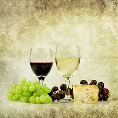 cheese and wine print