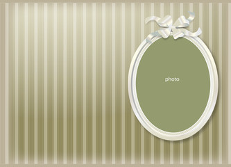cadre photo blanc sur fond vert