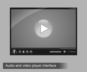 Audio and video player interface