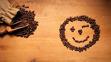 coffee beans timelapse face smile