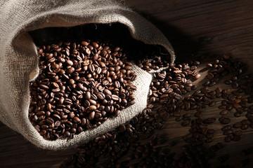 Jude Sack voller Kaffee Bohnen