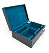 blue fabric box isolated