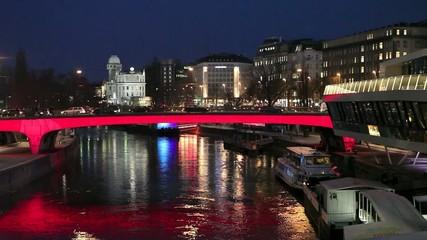 Wien bei Nacht, Donaukanal