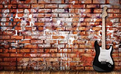 Guitar on grunge