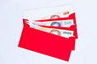 money in red envelope for give to people on chinese new year