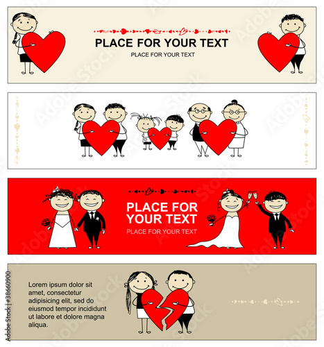 Valentine day. Collection of banners for your design