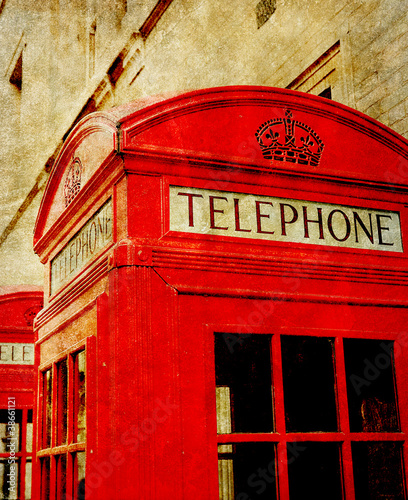 old phone box photo