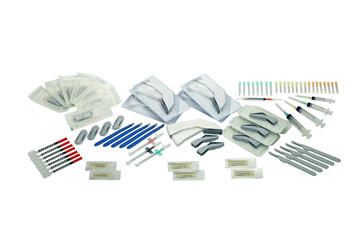 Medical instruments for suturing, cutting and injection.