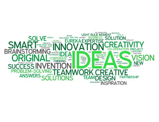 """IDEAS"" Tag Cloud (innovation problem solving smart solutions)"