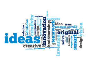 """IDEAS"" Tag Cloud (innovation solutions eureka smart answers)"