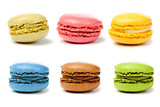 Fototapety assorted colorful french macarons