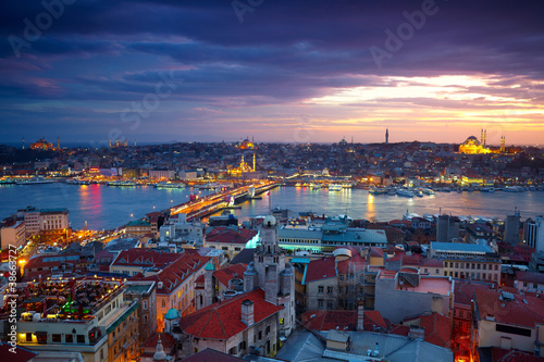Papiers peints Turkey Istanbul Sunset Panorama