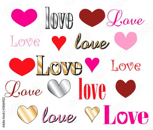 Love Heart Fonts