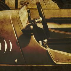 vintage racing car print