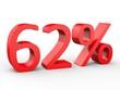 3d Schrift 62% rot