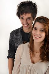 Couple de jeunes - garçon et fille