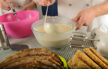 Chandeleur - Préparation pâte à crêpes 02