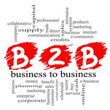 B2B Business to Business Scribble Concept