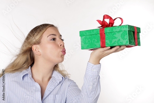 A pretty woman with the gift