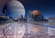 Modern City on an Alien Planet