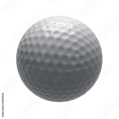 golf ball on isolated background