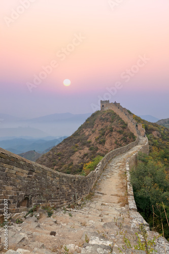 Papiers peints Muraille de Chine great wall with sunrise