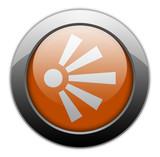 Orange Metallic Orb Button