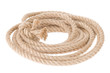ship rope with knot on white