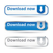 Modern download button set with reflection