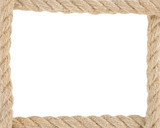 ship ropes at white background
