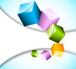 Abstract bright background with cubes