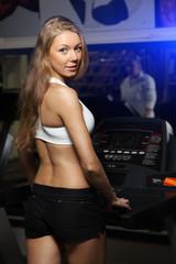 Running woman on toe cam
