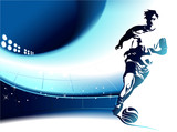 Fototapety Football background wih player