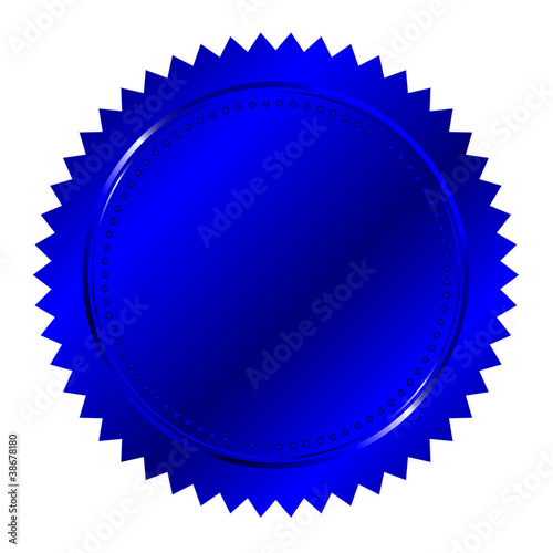 Vector illustration of  blue seal