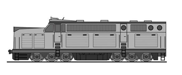 American style diesel locomotive